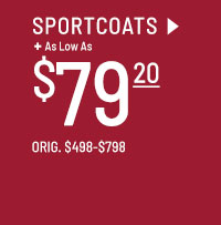 As low as $79.20 Clearance Sportcoats