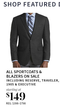 All Sportcoats on Sale starting at $149