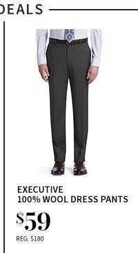 $59 Executive 100% Wool Dress Pants