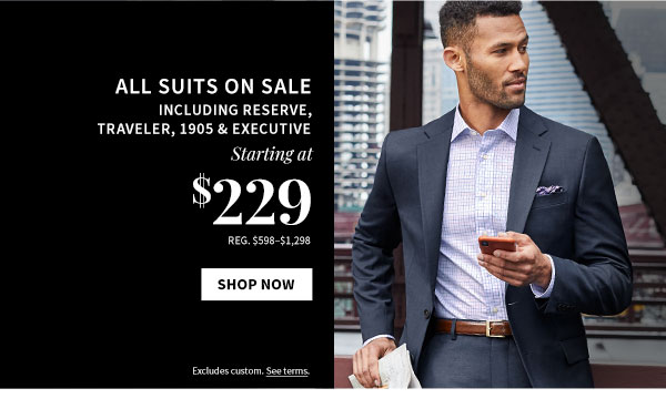 All Suits on Sale starting at $229