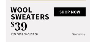 $39 Wool Sweaters