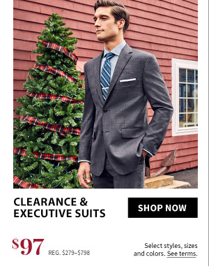 $97 Clearance Suits & Executive Suits
