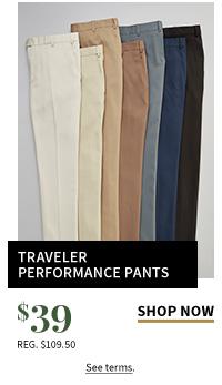 $39 All Traveler Performance Pants